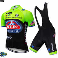 2019 Pro Tour de Italia Bicycling Maillot Culotte Clothing Green Cycling Team Jersey 12D Gel Pads Bike Shors Set Mens Quick Dry
