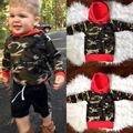 NUEVA LLEGADA Del Niño de Los Bebés Niñas Ropa de Algodón Con Capucha Tops Sudadera Con Capucha Verde Del Ejército Sudadera Ropa 0-24 M