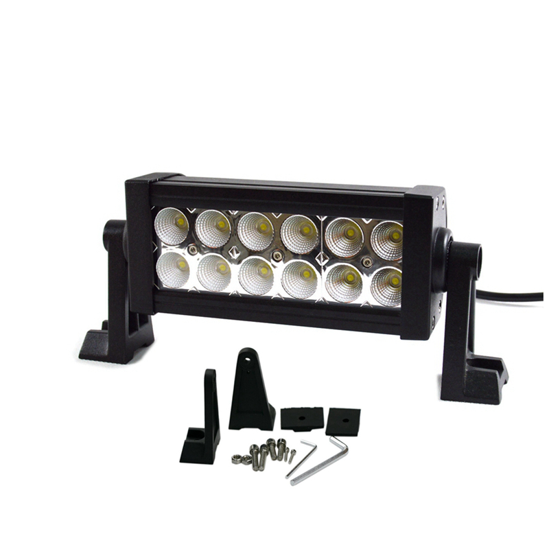 Free shipping 36W 7 inch LED Work Light Bar 12 X 3w led chip Flood Spot