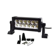 Бесплатная доставка 36 Вт 7 дюймов LED Work Light Bar 12X3 Вт светодиодный чип Наводнение Пятно света Spotlight Offroad Свет Бар Подходит ATV открытый свет
