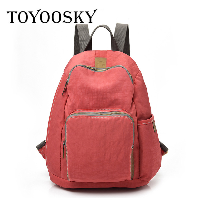 TOYOOSKY Brand Fashion Unisex Nylon Backpack Simple School Bag Shoulder Backbag For Teenagers Boys/Girls Backpacks Travel bag