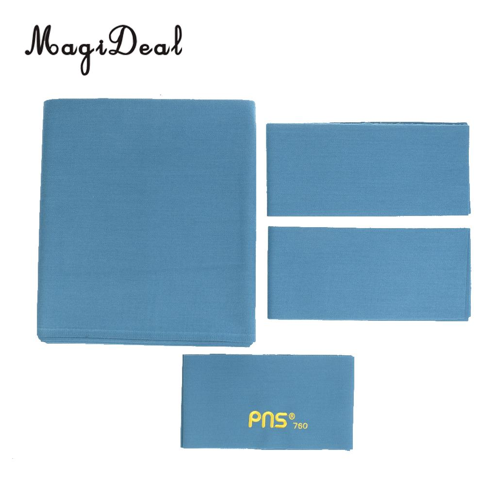 MagiDeal Universal Waterproof Cloth PNS760 Worsted Pool Table Felt Billiard Cloth for 9ft Table Cover Billiards Acce Blue/Green