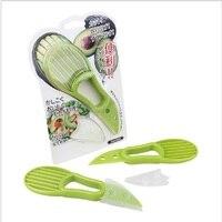 New Plastic New 3 In 1 Avocado Slicer Peeler Skinner Practical Fruit Cutter Knife Kitchen Gadgets