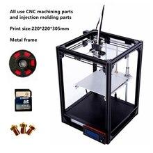 2017 новые 3D принтер большой 220*220*305 мм металлический каркас высокое качество точность DIY Kit нити SDCARD ЖК Ultimaker 2 CL-260