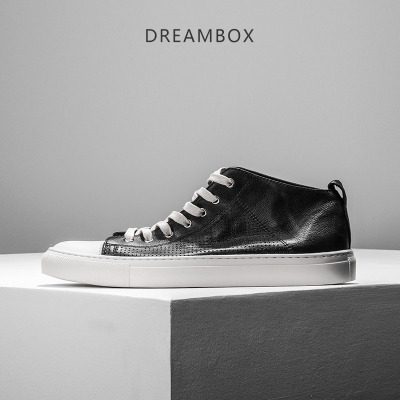 dreambox Europe and the United States Sports shoes leather retro, high help shoes, tide men do old dirty casual shoes dreambox europe and the united states men s wear thick soled shoes horsehair breathable leather shoes