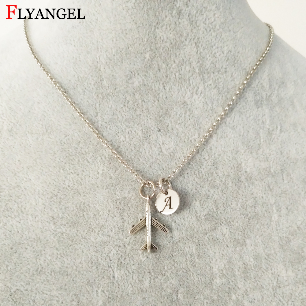 3//4 inch Sterling Silver Block Initial V Necklace Alphabet Letters High Polished 16-30 inch 2mm Curb Chain