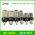 Светодиодные Лампы E27 Светодиодные Лампы E14 Мозоли Сид 220 В 110 В SMD 5736 Ампула e 27 лампада Real вт БЕЗ Мерцания для Дома ампулы огни