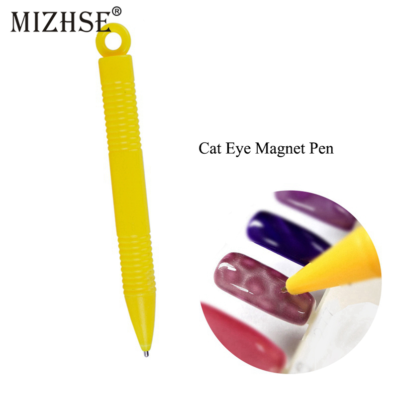 MIZHSE 3D Magnet Stick Cat Eye Magnetic Pen For Nails Drawing Nail Art Tool Manicure DIY Tools Cat Eye Effect Nail Gel Polish