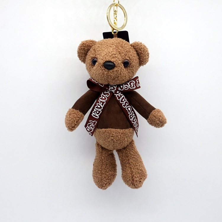 Bear In Hing Reng 2: 19cm Tie Teddy Bear Mini Plush Keychain Bear Pendant Key