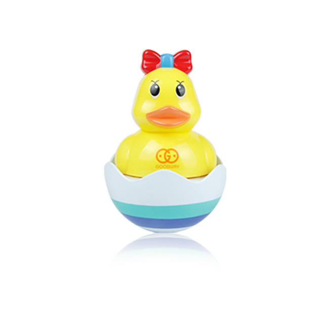 Funny Musical Tumbler Duck Bath Toys  Amphibious Tumbler  and Novelty Educational  Duck Baby Toys