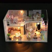 Miniature Doll House Furniture Dolls 3D Dollhouse Diy Mini Handmade Toys For Children Birthday Christmas Gifts M035 #E