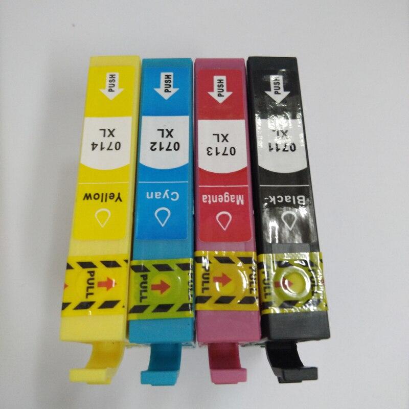 Vilaxh T0711 t0712 t0713 t0714 compatible ink cartridge for epson CX4300 D120 D78  printer