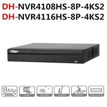 داهوا NVR POE NVR4108HS 8P 4KS2 NVR4116HS 8P 4KS2 8CH 16CH المدمجة 1U 8PoE 4K H.265 لايت شبكة مسجل فيديو onvif مع شعار