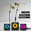 PLEXTONE X46M High Quality Earphone Wired Music Headset Detachable HiFi Earphones In-ear with MIC 3.5 MM Plug Golden And Gray