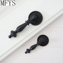 Drop Dresser Knobs  Drawer Pull Handles Hanging Black Kitchen Cabinet Handle Decorative Furniture Hardware