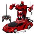 Rc автомобиль дистанционного Управление автомобили 2In1 трансформации роботы игрушки деформируемые игрушки RC спортивный автомобиль модель автомобиля - фото