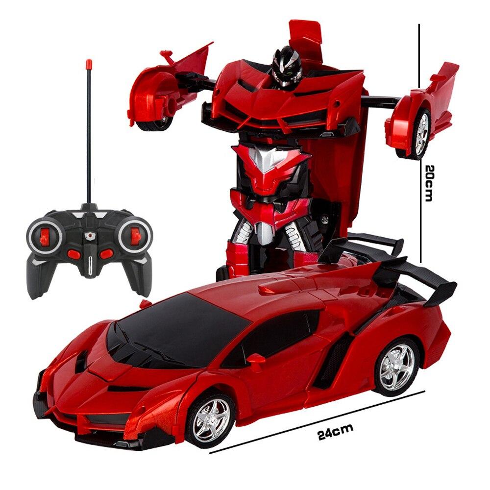 Rc Auto Fernbedienung Autos 2In1 Transformation Roboter Spielzeug Verformung spielzeug RC Sport Auto Fahrzeug Modell