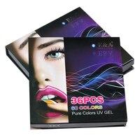 EA UV Boyama Jel Renk Sanat Nails Kapak Jel 36 renkler ambalaj set