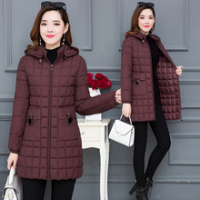Winter Jacket Female Cotton Coat Long Section Korean Down Padded Large Size Loose 2019 New Womens Clothing A1587
