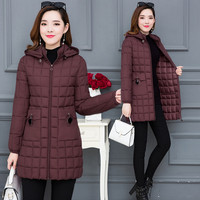 Winter Jacket Female Cotton Coat Long Section Korean Down Cotton Padded Large Size Loose 2018 New Winter Women's Clothing A1587