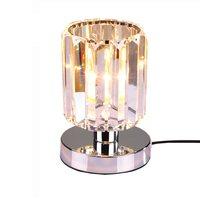 Crystal Table Lamp Lights Lamps Bedside Design Chrome Silver Designer Fixtures Light Lustre