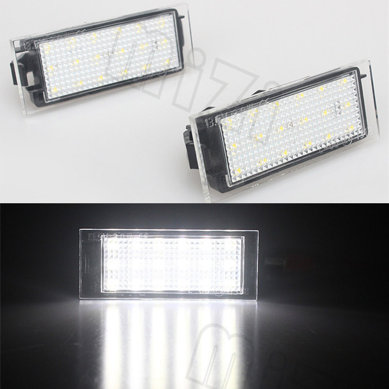 2pcs LED Number License Plate Light Car Replacement Lamp For Renault Clio Megane Twingo II Lagane II5D Vel Satis Master liandlee for alfa romeo 156 159 166 147 led car license plate light number frame lamp high quality led lights