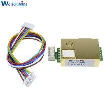 1pcs MH Z19 CO2 NDIR sensor infravermelho Módulo Sensor Monitor de Dióxido De Carbono Sensor De co2 sensor de 0 5000ppm para CO2 MH Z19B Com Linhas