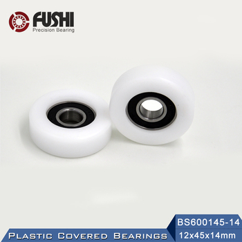 6001 2RS Ball Bearing Covered With POM Plastic 12*45*14 mm ( 2 PCS ) Plastic Pulley Bearings 6001 RS image