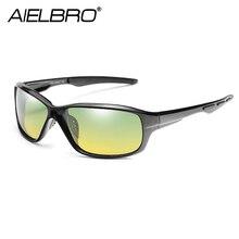 AIELBRO 2019 Day & Night Vision HD Driving Polarized Sunglasses Mens Glasses Anti-glare Goggles Sun UV400