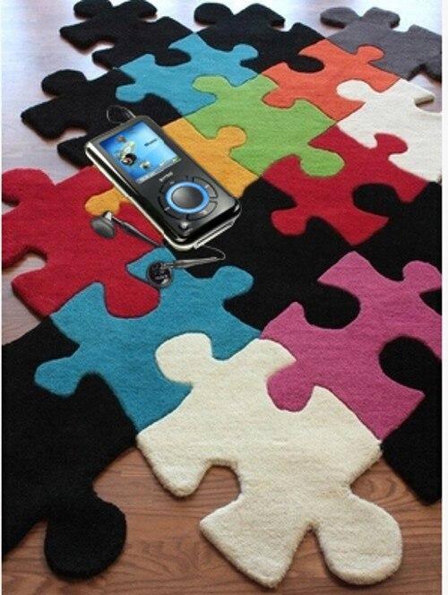 Качества роскошный Новинка мозаика многоцветные головоломки heteromorphic журнальный столик piaochuang ковер может быть изготовление под заказ