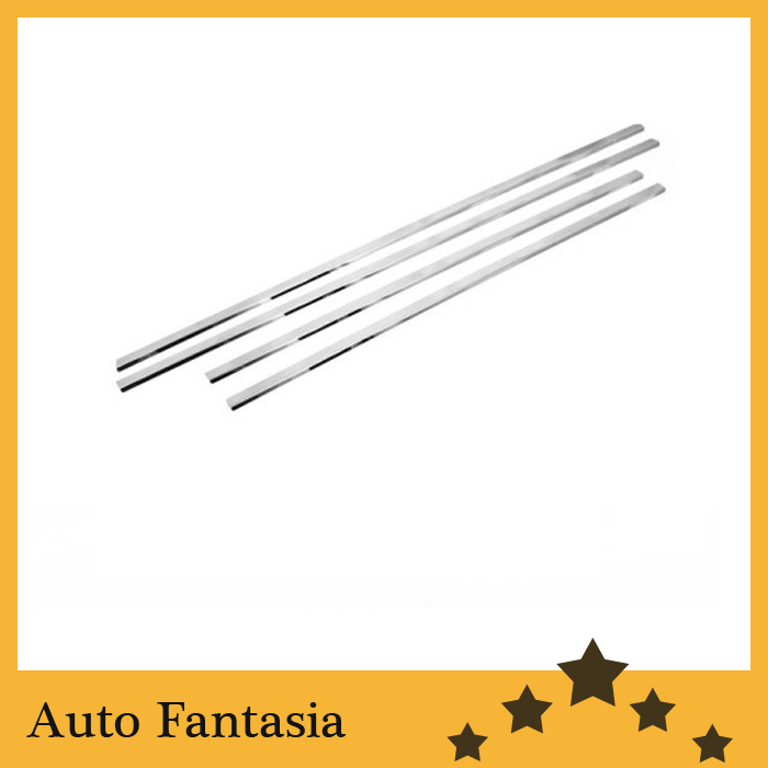 цены Chrome Steel Side Window Trim for Nissan Qashqai Dualis 07-09- Free shipping