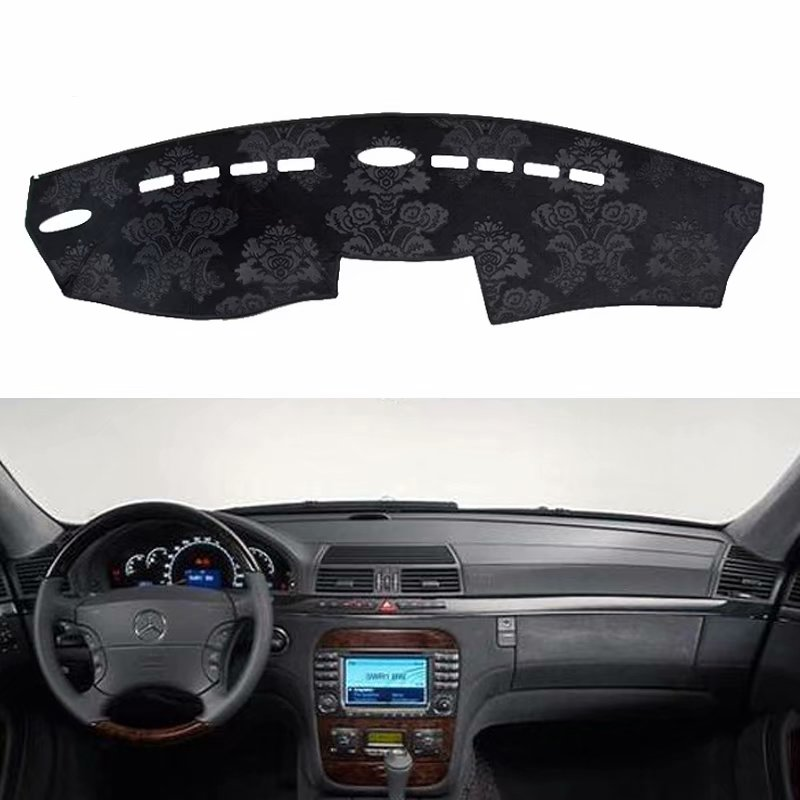 For Mercedes-Benz S-Class W220 s280 s320 s350 s400 1998-2005 Flannel Dashmats Dashboard Covers Dash Pad Car Mat Carpet CustomFor Mercedes-Benz S-Class W220 s280 s320 s350 s400 1998-2005 Flannel Dashmats Dashboard Covers Dash Pad Car Mat Carpet Custom