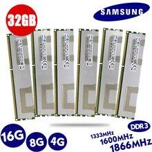 Samsung servidor de calor reg memória ecc, 4gb 8gb 16gb 32gb ddr3 pc3 1066mhz 1333mhz 1600mhz 1866mhz 8g 16g 32g x79 x58 lga2011