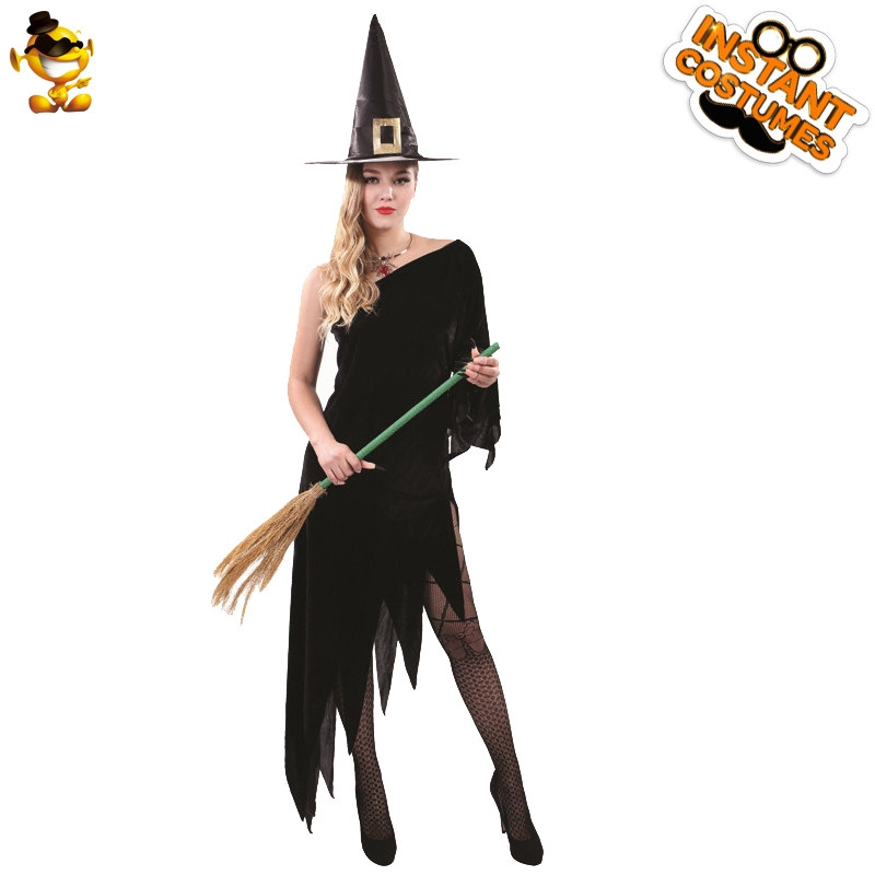 DSPLAY Fancy Dress for <font><b>Halloween</b></font> Holiday New Style <font><b>Sexy</b></font> <font><b>Womens</b></font> <font><b>Witch</b></font> Dress Cosplay Party Cute Costume Movie Deluxe image