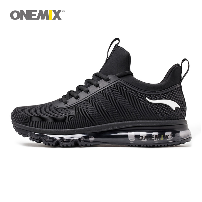 Onemix high top men running shoes shock absorption sports sneaker breathable light sneaker for outdoor walking jogging shoe 1191