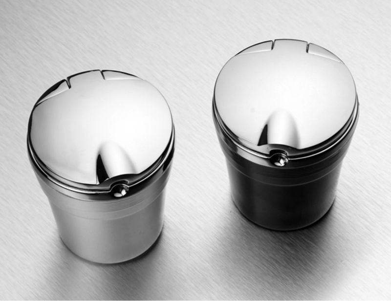 Portable Stainless Auto Car Cigarette Ashtray Ash with Blue LED Light Smokeless for Nissan <font><b>Prince</b></font> Royal