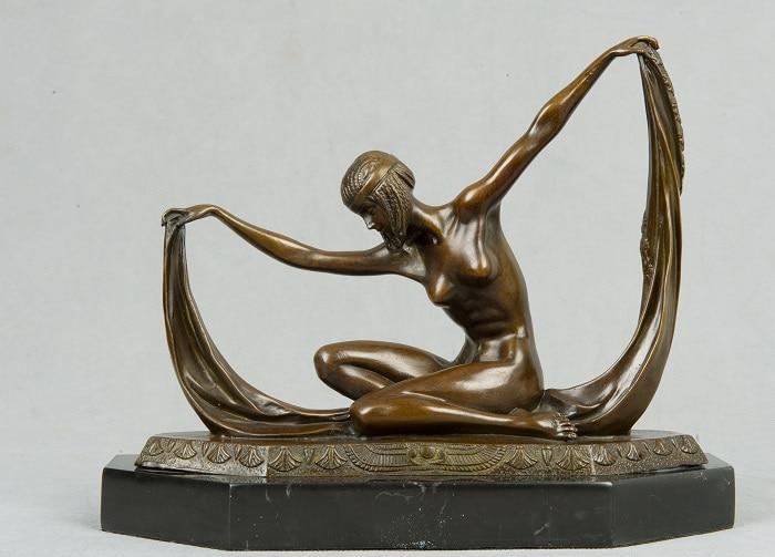 ATLIE BRONZES Western  statue en bronze   Dancer Nude girl Sexy Lady Bronze Sculpture  Dancing Statue ATLIE BRONZES Western  statue en bronze   Dancer Nude girl Sexy Lady Bronze Sculpture  Dancing Statue