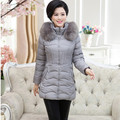 L-4XL Fashion women's jacket winter coat women long thickening padded jackets down & parkas plus size a coat with a hood Q678