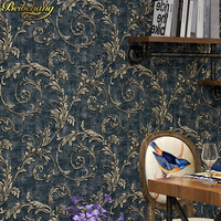 Gold Foil Wall Murals Wallpaper TV Background Papel De Parede 3d Wall Paper KTV Flash Wall