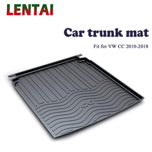 EALEN 1PC rear trunk Cargo mat For VW CC 2010 2011 2012 2013 2014 2015 2016 2017 2018 Boot Liner Tray Anti-slip mat Accessories ealen 1pc rear trunk cargo mat for toyota highlander 2009 2010 2011 2012 2013 2014 boot liner tray anti slip mat accessories