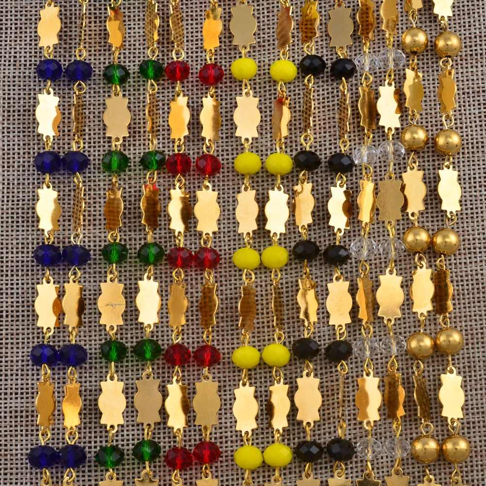 Anniyo Haiti Pendant Beads Necklaces Earrings Set for Women Ayiti Ethnic Items Gold Color Jewelry Gifts of Haiti #042521S