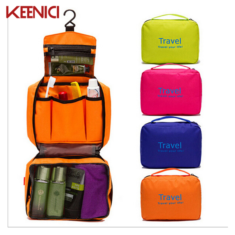KN Travel Pouch Waterproof Portable Toiletry Bag Women Cosmetic Organizer Pouch Hanging Cute Wash Bags Makeup Bag Professional cosmetic bag makeup bags men women waterproof business travel hanging toiletry cases portable organizer wash pouch