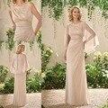 Simple Gasa Madre De los Vestidos de Novia Con Desmontable Del Cabo madre de la Madre vestido de la novia Madre Vestidos Para Ocasiones Especiales vestido