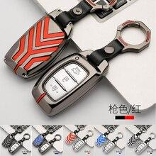 Чехол для ключа автомобиля из цинкового сплава для hyundai i10 i20 i30 HB20 IX25 IX35 IX45, высокое качество, умный ключ для стайлинга автомобилей