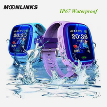 Moonlinks DF25 IP67 waterproof smart baby font b watch b font SOS Call Location For Kid