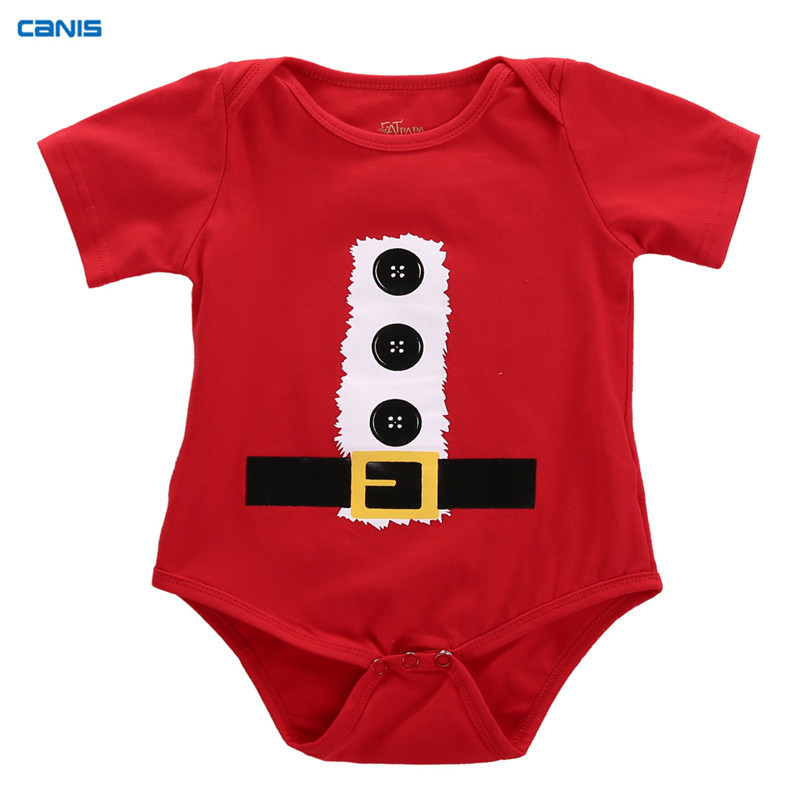 45836bde4cb61 CANIS Christmas Baby Boy Girl Rompers Newborn Infant Snowman Print Jumpsuit  Clothes Outfits Baby Clothing Xmas Gift ropa bebe-in Rompers from Mother &  Kids ...