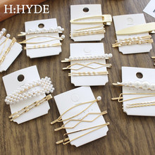 H:HYDE 3Pcs/Set Pearl Metal Hair Clip Hairband Comb Pin Barrette Hairpin Headdress Accessories Beauty Styling Tools Jewelry(China)