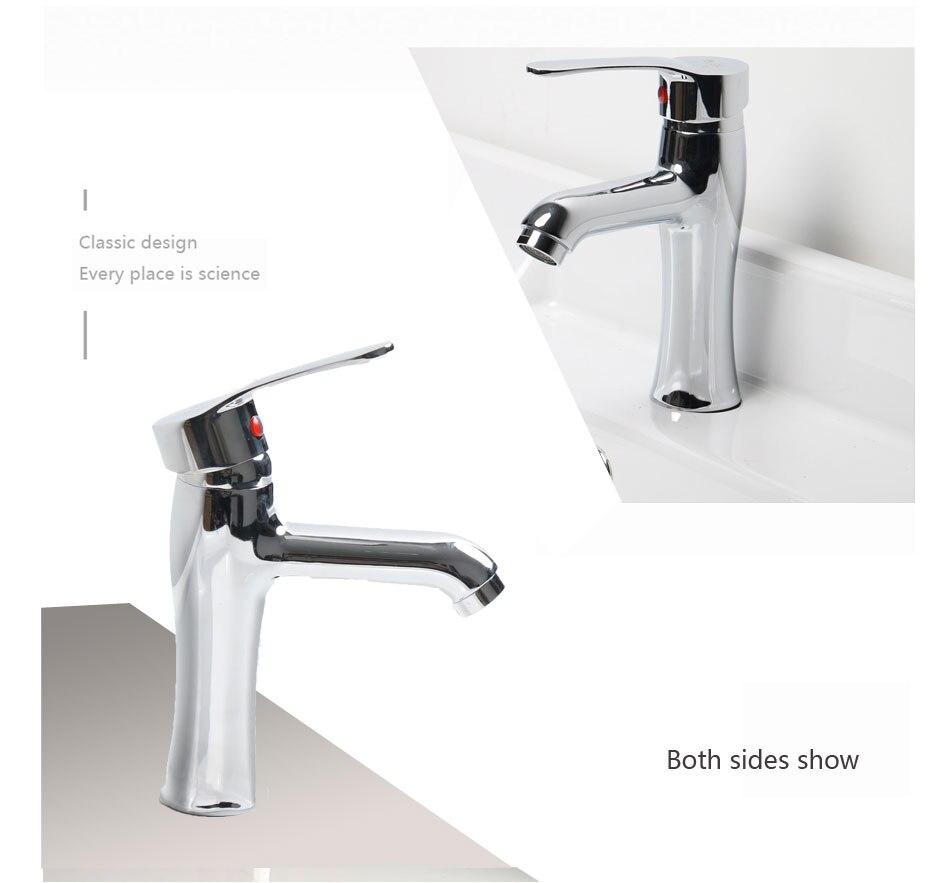 ᗖSola manija grifo lavabo del baño moderno lavabo grifo de agua ...