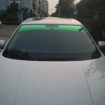 20x150cm Top Front Windshield Foil Solar Protection Gradient Black Car Tinting Film Sunshade For Driver Driving 1