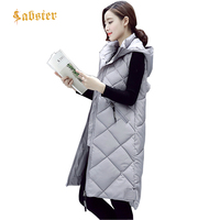 2018 New Women Vest Long Sleeveless Coat Down Cotton Thick Warm Female Vest Jacket Autumn Winter Women Waistcoat